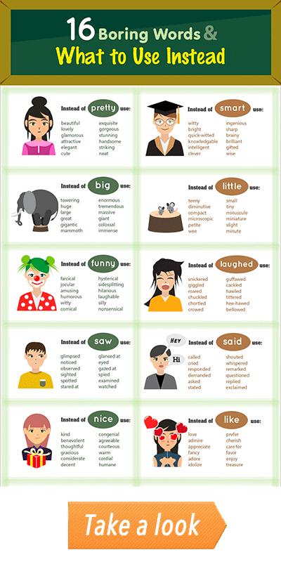 Boring Words Infographic