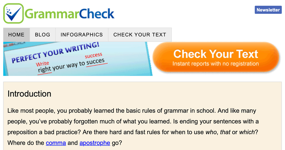 GrammarCheck net - Check your text online