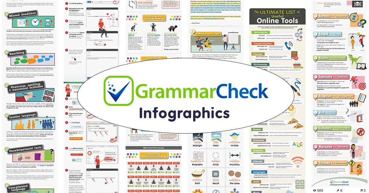 The best infographics on grammar, writing, and productivity