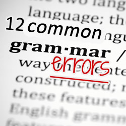 the 12 most common grammar errors