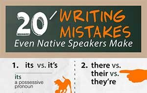 english common mistakes in speaking and writing