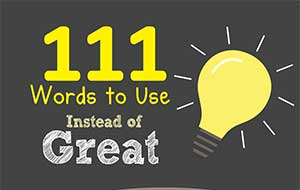 111 Words To Use Instead Of Great Infographic