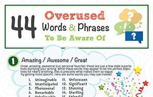 44 Overused Words & Phrases To Be Aware Of (Infographic)