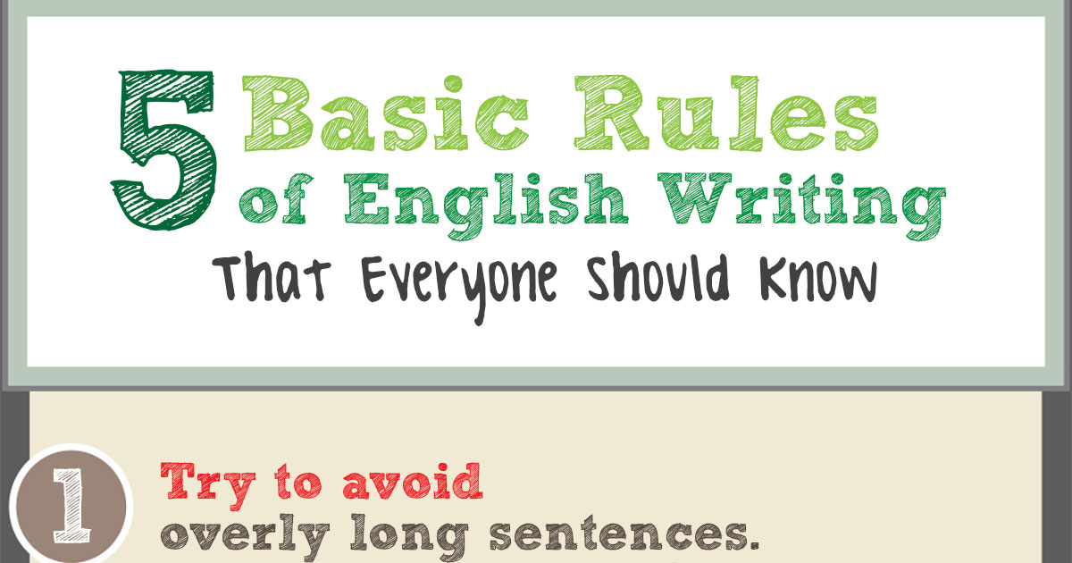 Rules of an essay