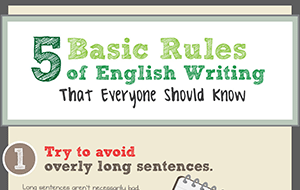 5 Basic Rules of English Writing That Everyone Should Know (Infographic)