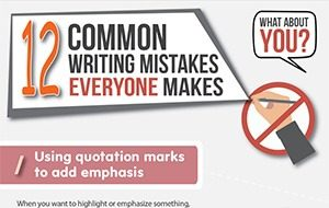12 Common Writing Mistakes Everyone Makes (Infographic)