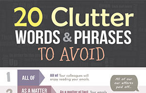 20 Clutter Words & Phrases We Use Too Often (Infographic)