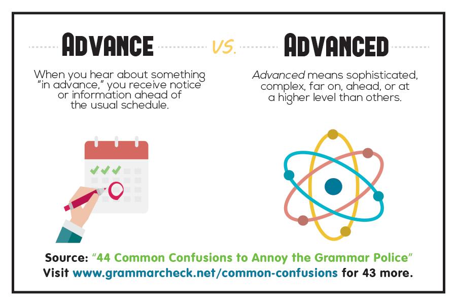 Advance vs. Advanced