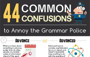 44 Common Confusions to Annoy the Grammar Police - Part 1/2 (Infographic)