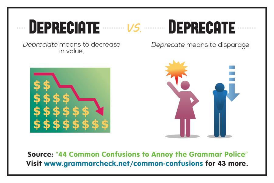 Depreciate vs. Deprecate