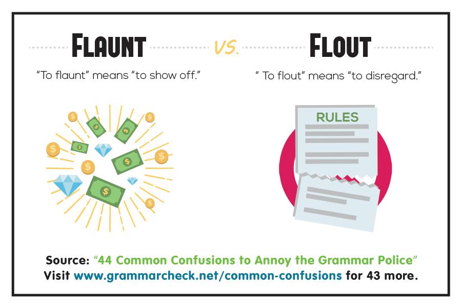 Flaunt vs. Flout