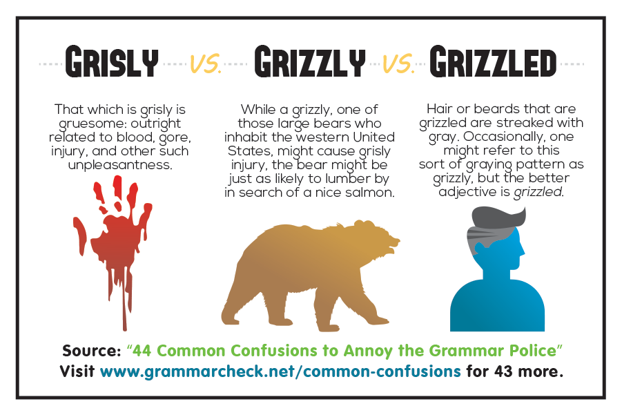 Grisly vs. Grizzly vs. Grizzled