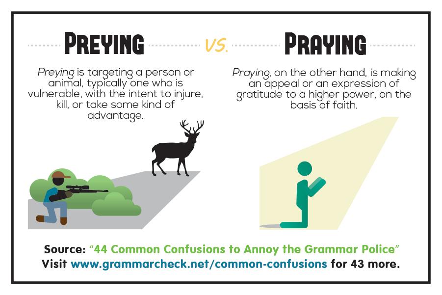 Preying vs. Praying