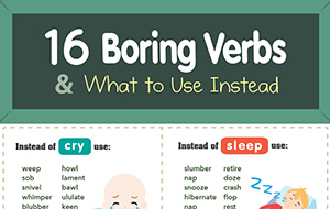 16 Boring Verbs & What to Use Instead (Infographic)
