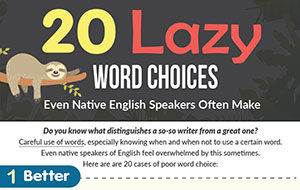 20 Lazy Word Choices Even Native English Speakers Often Make (Infographic)