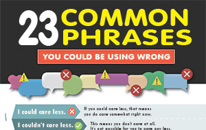 23 Common Phrases You Could be Using Wrong (Infographic)